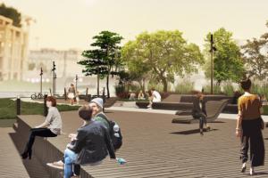 «От развлечений в сторону природы». Власти Петербурга рассказали, как благоустроят новый участок набережной Карповки к 2022 году. Вот макеты