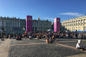 В Петербурге начался матч Швейцария — Испания. В фан-зонах — меньше 1 тысячи болельщиков