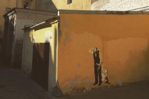 В Петербурге появилась работа «Достоевский расчленяет либеральную идею» художника Zoom