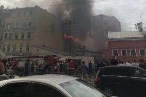 На Лиговском проспекте горел доходный дом Карявова. Огонь охватил 1500 квадратных метров. Обновлено