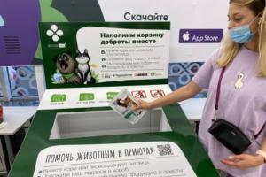 В магазинах Петербурга и Москвы появились «корзины доброты». Там можно оставить корм и аксессуары для бездомных животных