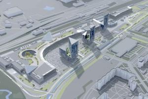 В Купчине хотят установить три стеклянные башни по 100 метров — это будет самый большой ТЦ. Посмотрите на визуализацию