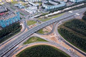 Развязка ЗСД с Шуваловским открыта. Она должна разгрузить улицы быстрорастущего Приморского района