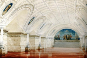 «Владимирская» могла выглядеть совсем иначе. Показываем нереализованный проект станции метро — с мрамором, лепниной и портретами князей 🚇