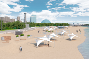 Как будет выглядеть пляж парка 300-летия после благоустройства? Показываем первые визуализации