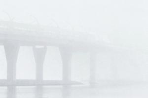 Как туман накрыл Петербург. Горожане не видят «Лахта Центр» и соседние здания