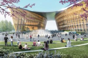 На Охтинском мысу создадут общественные пространства — какими они будут? Показываем прогулочную тропу, кафе и зимний сад